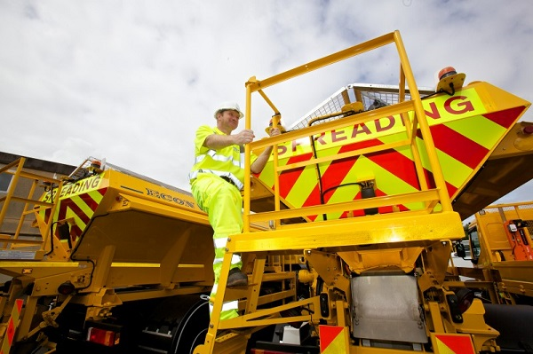 Gritters get ready for winter at the Penrith depot (photo Steven Barber Photography Ltd)
