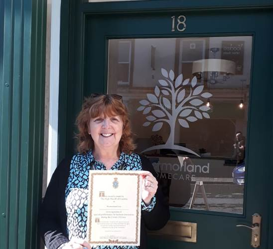 Bernadine Davies care manager at Westmorland Homecare