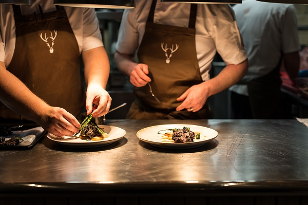 Forest Side's chefs at the pass
