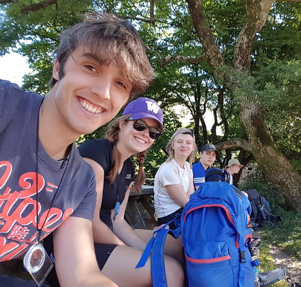 L-R: Barrow Sixth Form College students Liam Edgley and Rachel Gleaves on their Duke of Edinburgh Gold Award Expedition