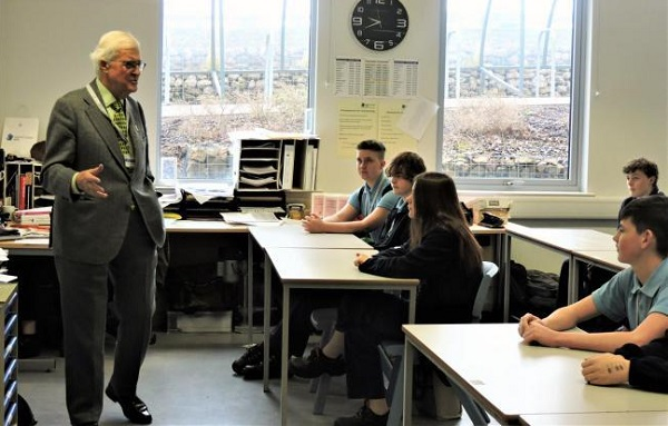 Lord Baker speaks to Year 10 Construction students