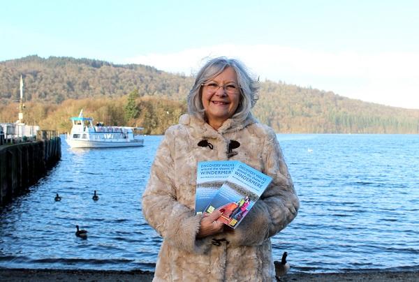 Maureen Fleming with late husband Jim Fleming's guidebook