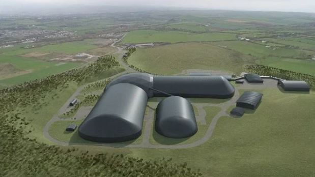 Aerial CGI of Woodhouse Colliery mine site