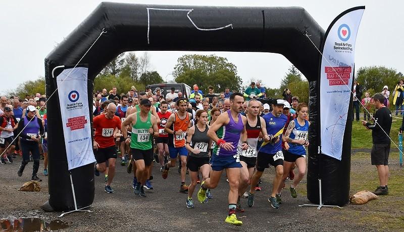 RAF Spadeadam Half Marathon runners.  Photo: RAF Benevolent Fund