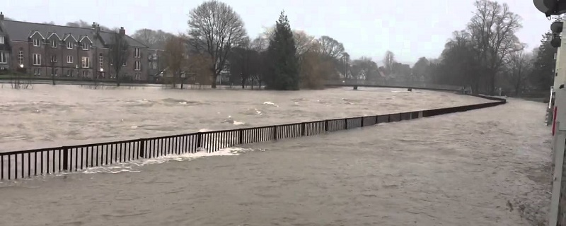 Flooding in Kendal caused by Storm Desmond
