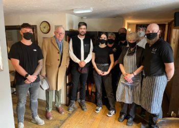 THE Swinside Inn in the Newlands Valley had a busy time on Saturday and to cap it off they had the fabulously funny Jack and Michael Whitehall over for lunch of scampi and Henderson's own Cumberland sausage.
