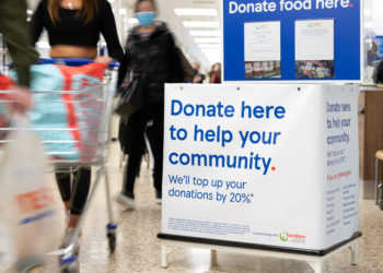 Donation point at Tesco