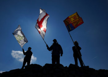 To honour of the Duke of Edinburgh's long involvement and support of The Outward Bound Trust, some of the charity's outdoor instructors scaled the UK's three highest peaks – Ben Nevis, Snowdon, and Scafell Pike – to raise the Royal Standard, Outward Bound and country specific flags, in memory and in tribute to His Royal Highness on the day of his funeral.