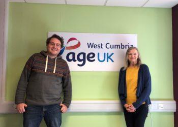 Former audiology nurse, Jean Mason with Alan Irwin, Age UK West Cumbria
