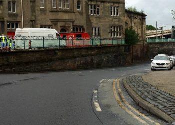 The taxi rank by Carlisle railway station