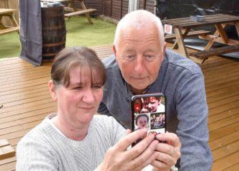 Sharron Hankin and landlord Peter Harding of the Twa Dogs Inn