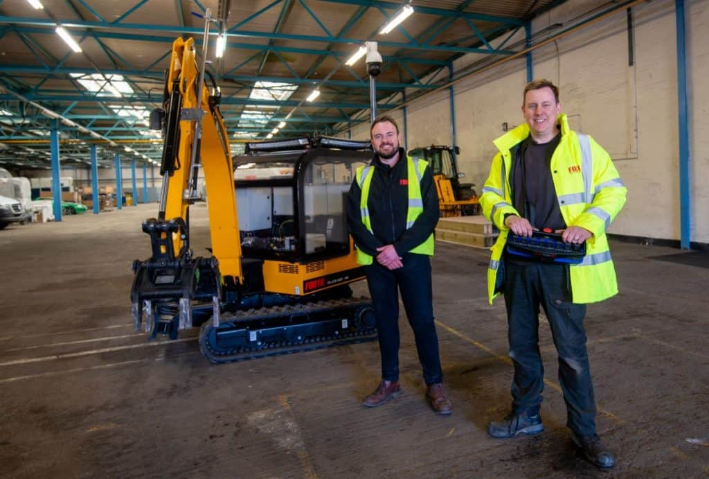 Graham Cartwright  and Graeme McLaughlin with Forth's Rescue Robot