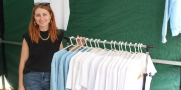 Jodie Morgan at the Young Entrepreneurs Market in Whitehaven