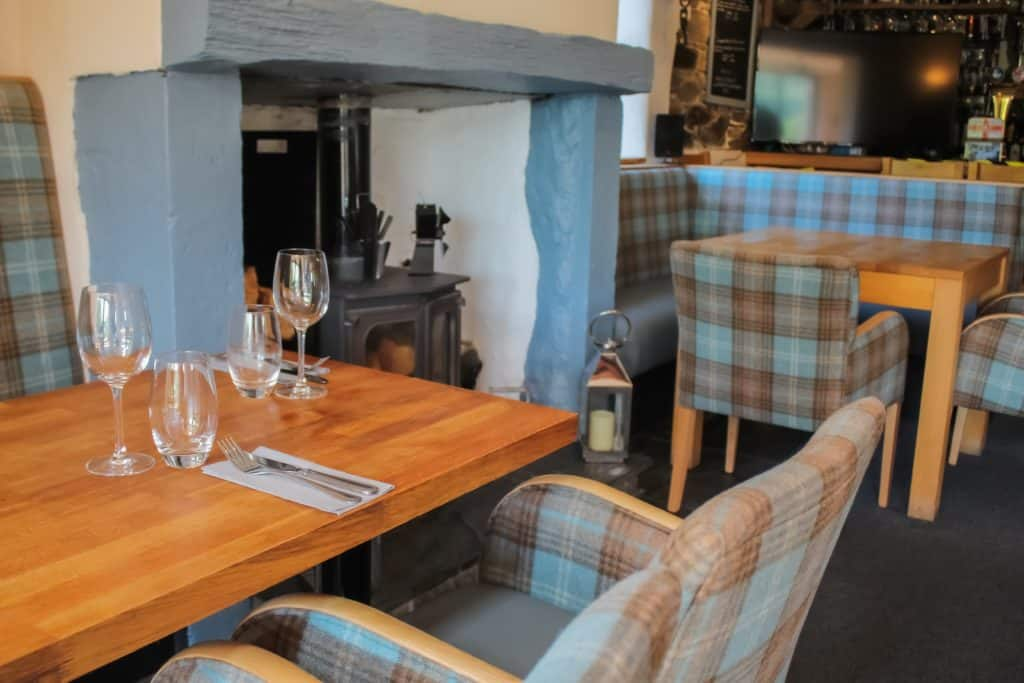 The new look bar and restaurant at the Embleton Spa Hotel, near Cockermouth, Cumbria.