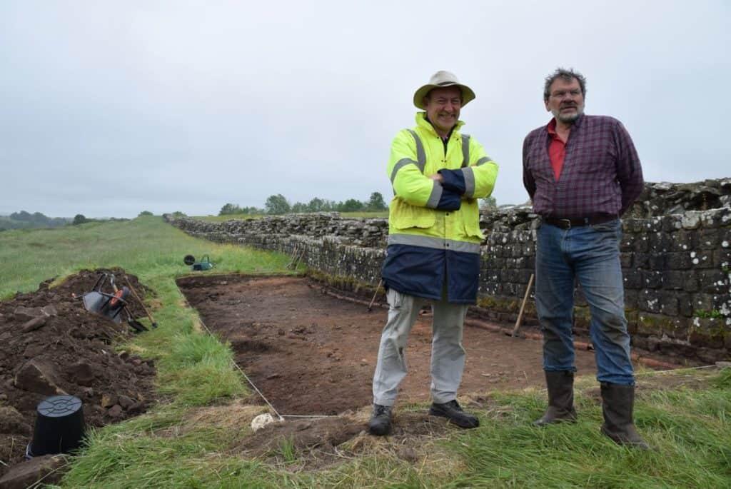 Project co-directors Ian Haynes, Newcastle University professor of archaeology and Tony Wilmott, Historic England senior archaeologist at Birdoswald Roman Fort