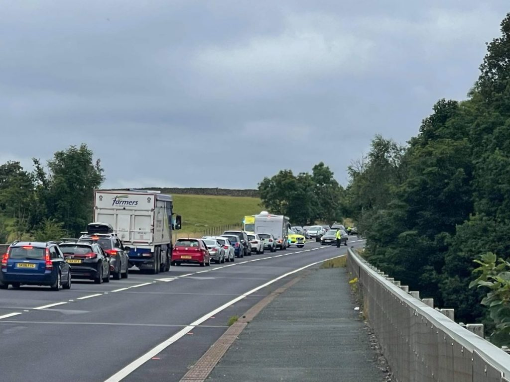 Police have confirmed that there were no life-threatening or life-changing injuries after a crash on the A66.