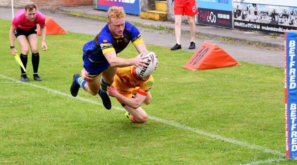 Lachlan Walmsley flies in