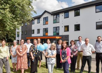 Newton House, Penrith, open day Guests  from Eden and Cumbria County council and officials of Housing 21 and staff of Atkinson's builders Penrith