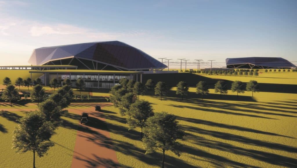 What two Rolls-Royce SMR power stations deployed on one site could look like