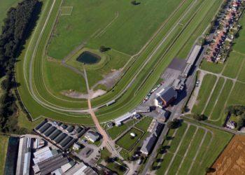 Aerial view of Carlisle Racecourse
