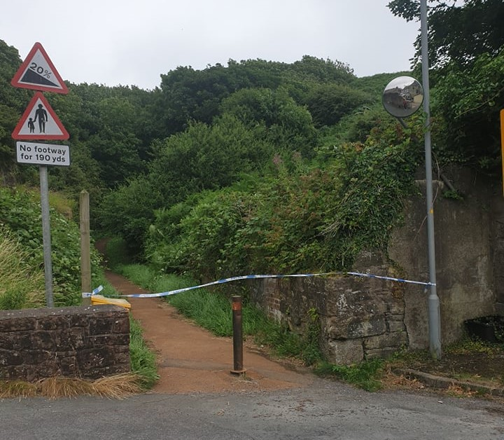 Investigations are underway to determine the risk posed by a Parton landslide close to a school.