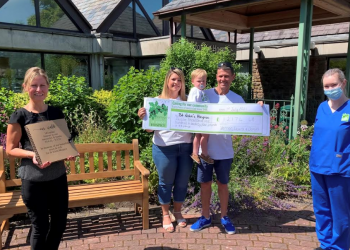 The Rigg family donate over £12,000 to St John's Hospice