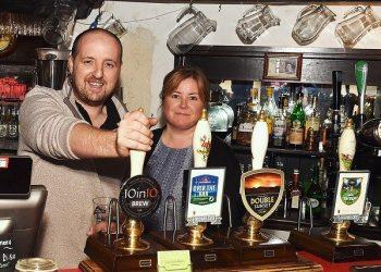 Ben and Sharon Henderson at The Swinside Inn near Keswick