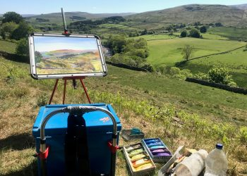 The Brush and Lens Exhibition features images of Alston Moor by artists and photographers including Lionel Playford, Gilllie Cawthorne, Helen Johnson, Helen Wilkinson, Mike Knowles and Gordon Monk.