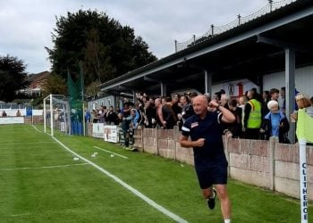 llcock has already struck up a rapport with the Reds fans, but it cost him a yellow card at Clitheroe. He was booked for celebrating with the fans after Symington had made it 2-0 to clinch the points.