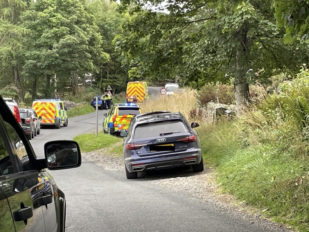 Two elderly tourists were taken to hospital after a crash in Bampton