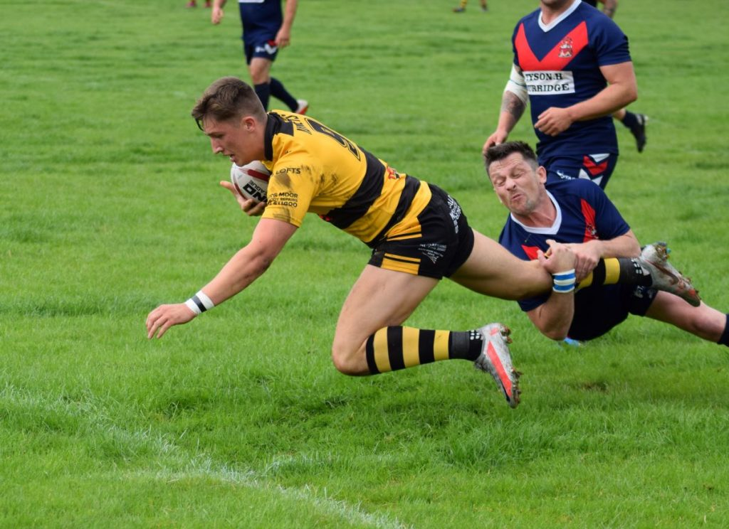 Ellison Holgate's crucial try for Wath Brow, Picture: Brian Atkinson