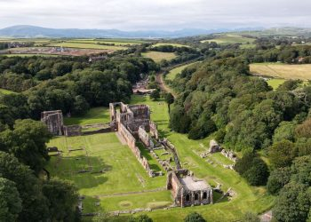 Aerial view of Furness Abbey
