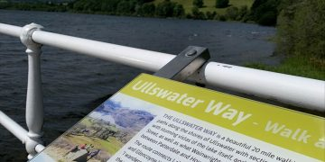 Information boards at Ullswater Steamers