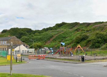 Parton landslide. Picture: Cumbria County Council