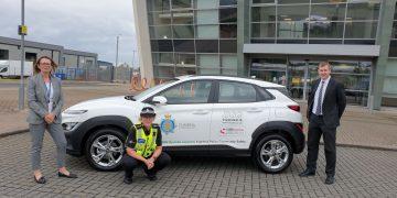 Sharon Livesey-Roach, Chief Inspector Annette McClement and Jonny Stoker of DSG Ltd.