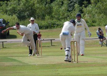 Workington skipper Matty Lowden in bowling action