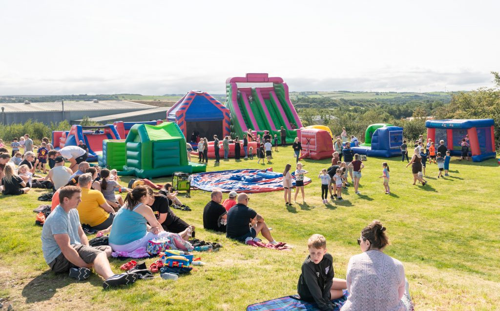 Hundreds of families basked in some bank holiday sunshine to enjoy a free event in Workington.