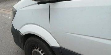 A wing mirror on a vehicle was damaged on Springkell in Aspatria
