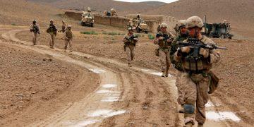 Kajaki, Afghanistan,-,April,22, 2012. US Marines patrol