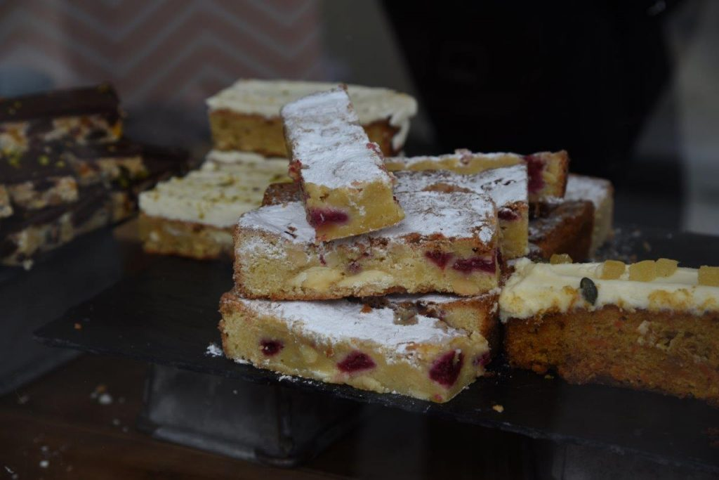 Almond blondies from Ginger Bakers