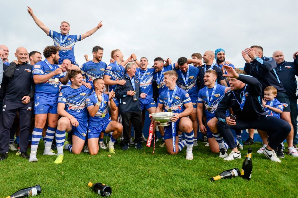Barrow Raiders celebrate