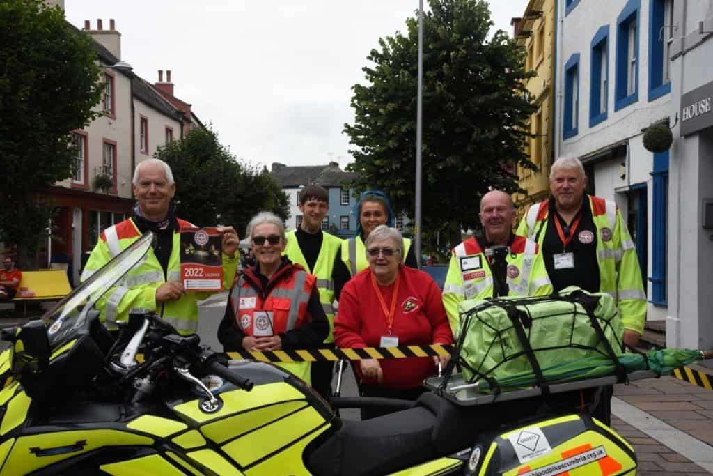 Blood Bikes volunteers at Taste Cumbria