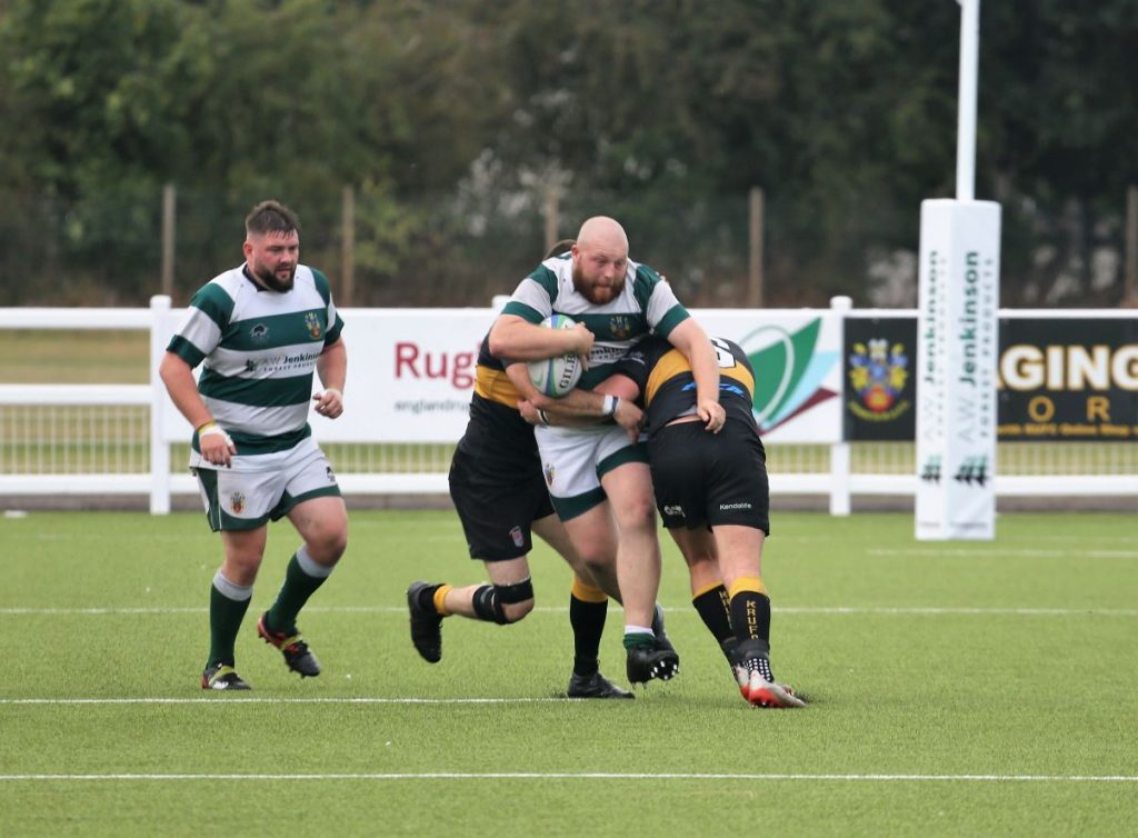 Captain on the day, Adam Howe running up the hard yards Picture David Nattrass