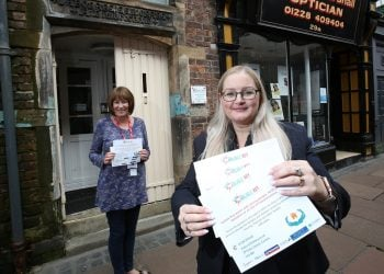 Deborah Earl (left), chief executive officer at Carlisle Key, with Helen Jelly, manager of Newcastle Building Society's Carlisle branch