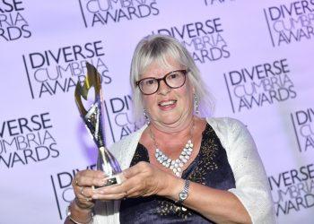Diverse Cumbria Awards 2021 held at The Halston, Carlisle. Sheila Gregory winner of the Lifetime Achievement Award : 24 September 2021 Stuart Walker Copyright Stuart Walker Photography 2021