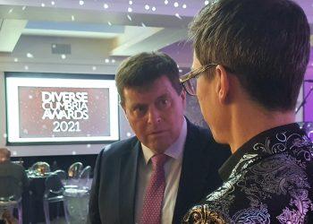 Peter McCall at the Diverse Cumbria Awards 2021
