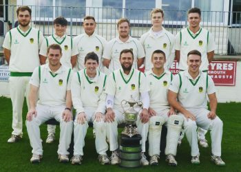Gareth White front centre with the Cockermouth Championship winning side of 2018.