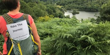 Gill Conlon on the coffin path between Grasmere and Rydal