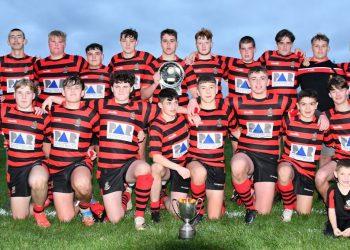 Hensingham U16s with their trophies (Ben Challis)