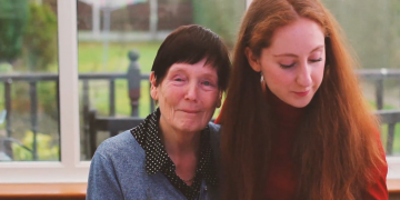 Holly Lovelady and her grandmother Maureen